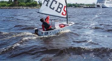 Optimist with Dotan rudder with tailwind