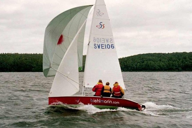Dotan rudder on sports and pleasure sailing boats, dinghy.