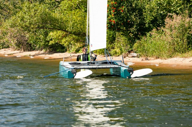 The Dotan Rudder is successfully used on various catamarans.