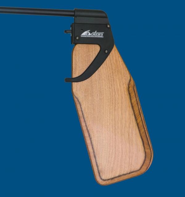 Dotan's Kick-Up Rudder Optimist, Wooden blade, club version.