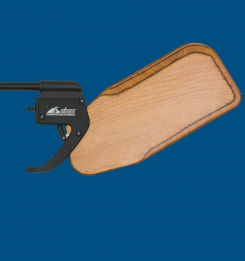 Dotan's Kick-Up Rudder Optimist, Wooden blade, club version.