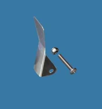 Optimist rudder retaining clip