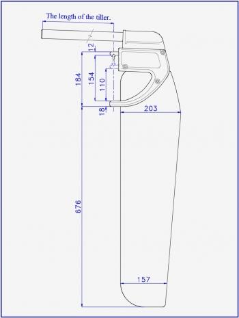 Схема руля Дотан для спортивного и туристического катамарана