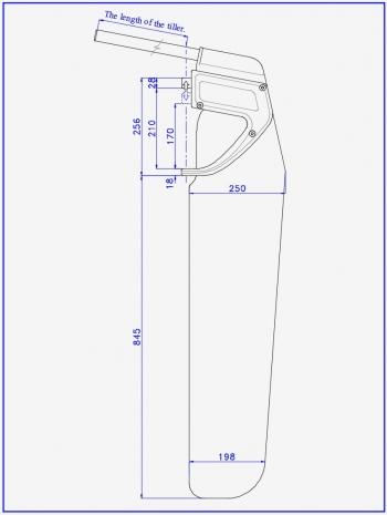Схема руля для спортивного катамарана и туристической лодки или парусника
